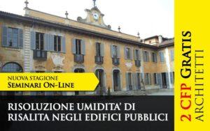 Seminario online – 2 CFP ARCHITETTI GRATUITI